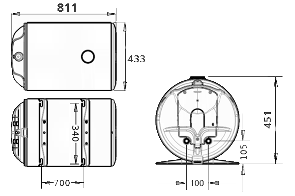 ВОДОНАГРІВАЧ Atlantic HM 080 D400-1-M - інструкція по монтажу