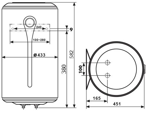 БОЙЛЕР Atlantic Ingenio VM 050 D400-3-E - инструкция по монтажу