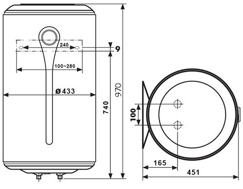 ВОДОНАГРІВАЧ Atlantic Ingenio VM 100 D400-3-E - інструкція по монтажу