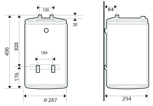 БОЙЛЕР Thermor O`Pro Small PC 15 R - инструкция по монтажу