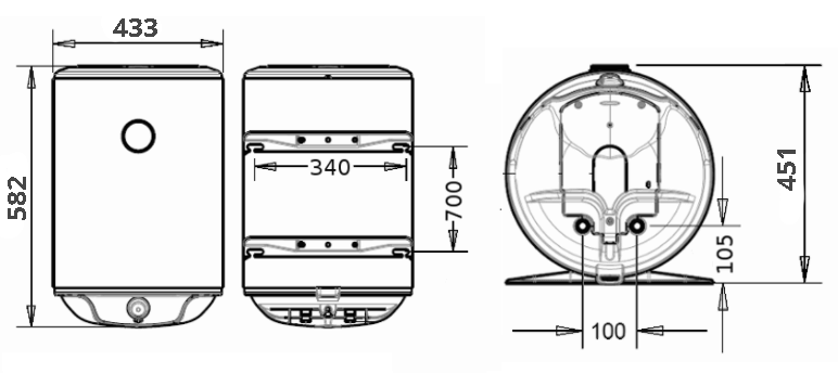 БОЙЛЕР Thermor Concept VM 050 D400-1-M - инструкция по монтажу