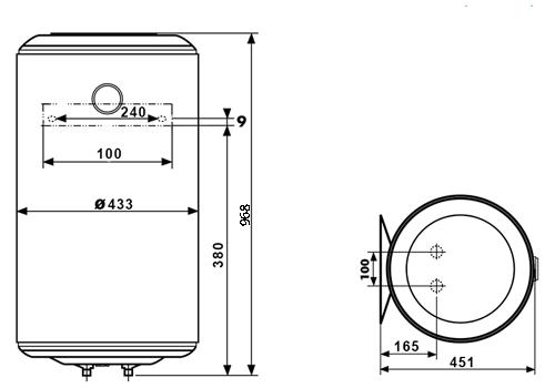 БОЙЛЕР Atlantic O'Pro VM 100 N4L - инструкция по монтажу