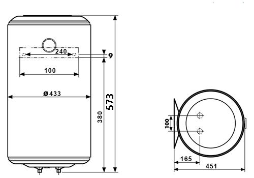 БОЙЛЕР Atlantic O'Pro VM 50 N4L - инструкция по монтажу