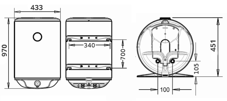 БОЙЛЕР Atlantic O`ProP VM 100 D400-1-M - инструкция по монтажу