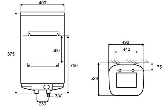 БОЙЛЕР Atlantic Steatite Cube VM 100 S4CM - инструкция по монтажу