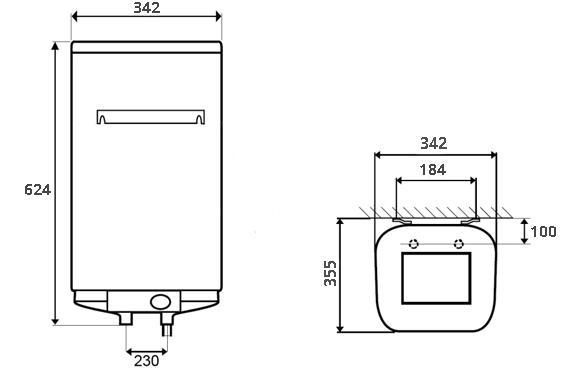 ВОДОНАГРІВАЧ Atlantic Steatite Cube VM 30 S3C - інструкція по монтажу
