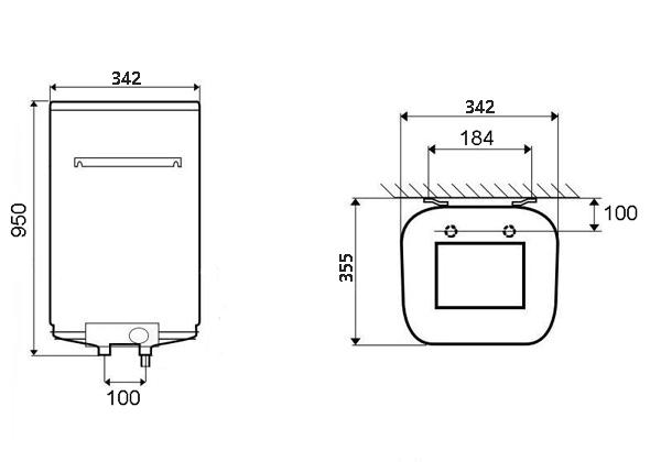 ВОДОНАГРІВАЧ Atlantic Steatite Cube VM 50 S3C - інструкція по монтажу