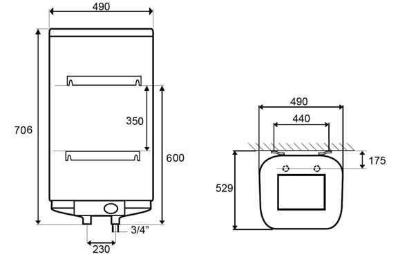 ВОДОНАГРІВАЧ Atlantic Steatite Cube VM 75 S4CM - інструкція по монтажу