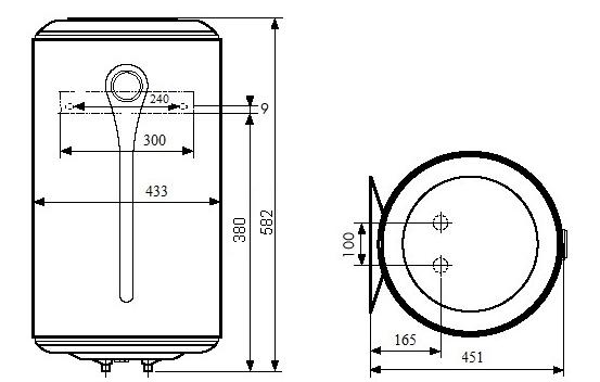 БОЙЛЕР Atlantic Steatite Elite VM 050 D400-2-BC - инструкция по монтажу