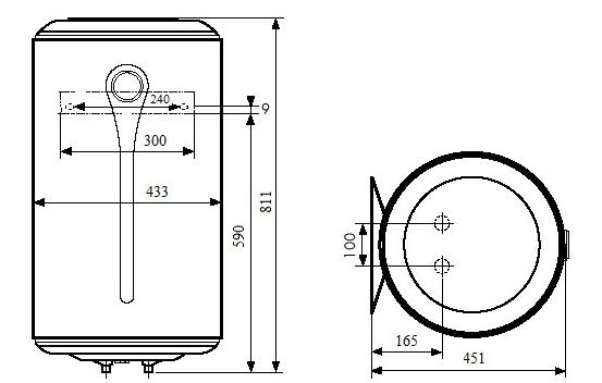 БОЙЛЕР Atlantic O`ProP VM 080 D400-1-M - инструкция по монтажу
