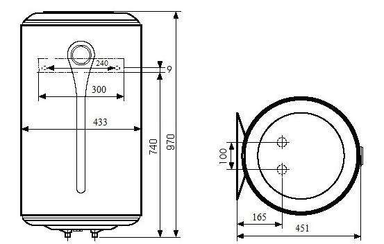 ВОДОНАГРІВАЧ Atlantic Steatite Elite VM 100 D400-2-BC - інструкція по монтажу