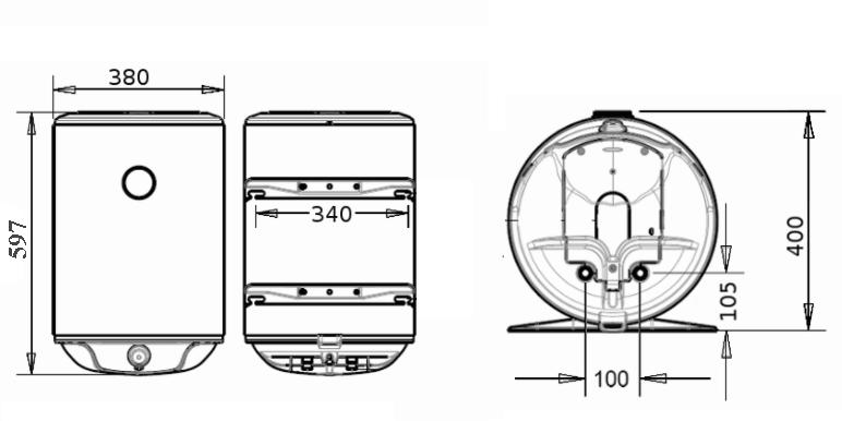 БОЙЛЕР Atlantic Steatite Slim VM 30 D325-2-BC - инструкция по монтажу