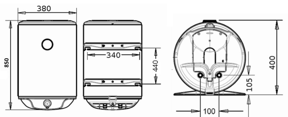 ВОДОНАГРІВАЧ Atlantic Steatite Slim VM 50 D325-2-BC - інструкція по монтажу