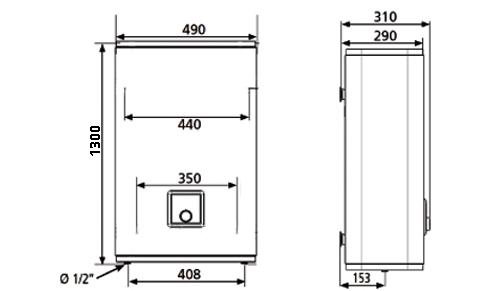 БОЙЛЕР Atlantic  Vertigo  100 MP 080 F220-2-BL - инструкция по монтажу