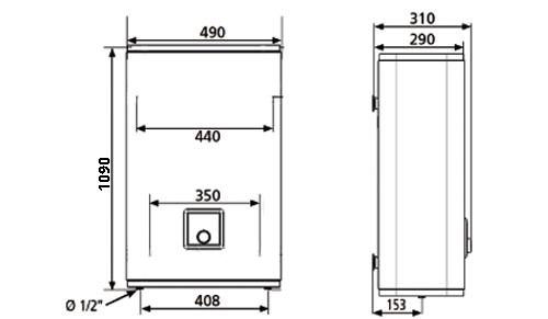 БОЙЛЕР Atlantic  Vertigo  80 MP 065 F220-2-BL - инструкция по монтажу