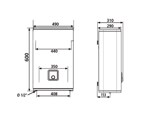 ВОДОНАГРІВАЧ Atlantic Vertigo O`Pro MP 025 F220-2E-BL - інструкція по монтажу