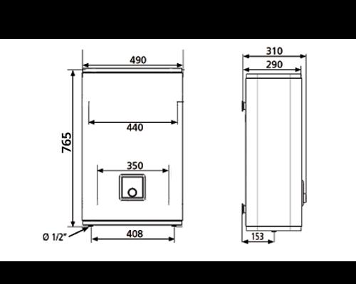 БОЙЛЕР Atlantic Vertigo O`Pro MP 040 F220-2E-BL - инструкция по монтажу