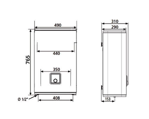 ВОДОНАГРІВАЧ Atlantic Vertigo O`Pro MP 040 F220-2E-BL - інструкція по монтажу