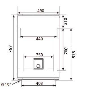 ВОДОНАГРІВАЧ Atlantic Vertigo Steatite 50 MP 040 F220-2-EC - інструкція по монтажу