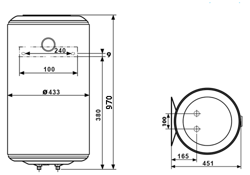 БОЙЛЕР Thermor Concept VM 100 D400-1-M - инструкция по монтажу