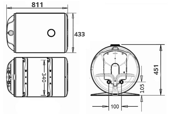 ВОДОНАГРІВАЧ Thermor O`Pro Horizontal HM 080 D400-1-M - інструкція по монтажу
