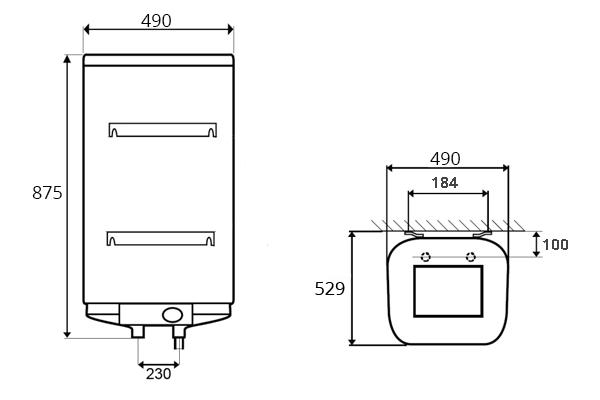 ВОДОНАГРІВАЧ Thermor Steatite Cube VM 100 S4CM - інструкція по монтажу