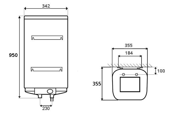 ВОДОНАГРІВАЧ Thermor Steatite Cube VM 50 S3C - інструкція по монтажу