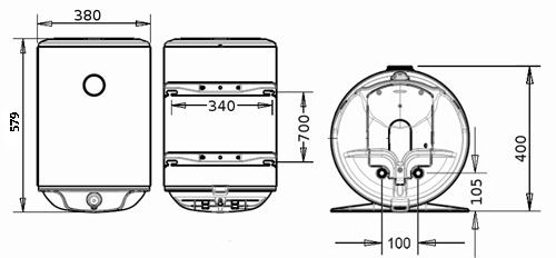 БОЙЛЕР Thermor Steatite Slim VM 30 N3CM(E) - инструкция по монтажу