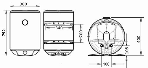 БОЙЛЕР Atlantic Steatite Slim VM 50 N3CM(E) - инструкция по монтажу