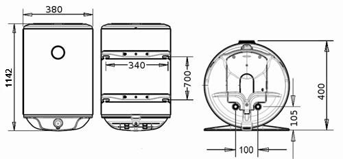 БОЙЛЕР Thermor Steatite Slim VM 80 N3CM(E) - инструкция по монтажу